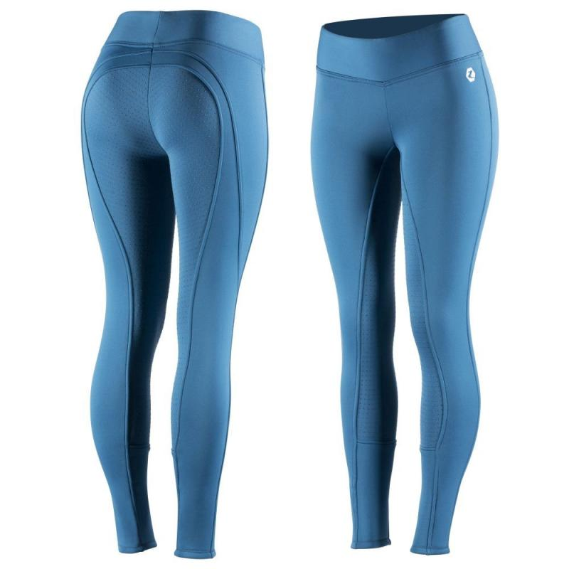 Bryczesy damskie z silikonem Horze Active niebieskie