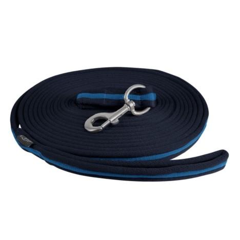 Lonża QHP czarno-niebieska