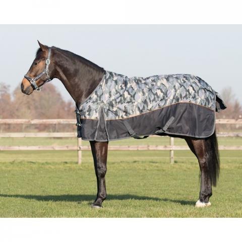 Derka stajenna QHP Camouflage nylon 300g czarna