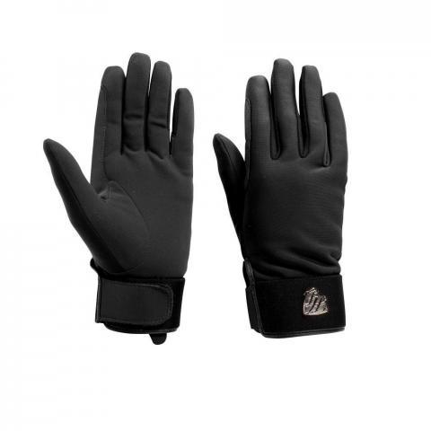 Rękawiczki zimowe Horze Annie softshell czarne