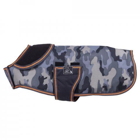 Derka dla psa QHP Camouflage szara