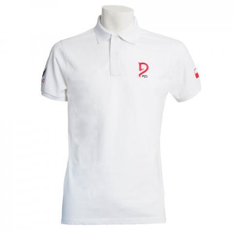 Koszulka kibica męska Polo Polish Equestrian Team Premium biała