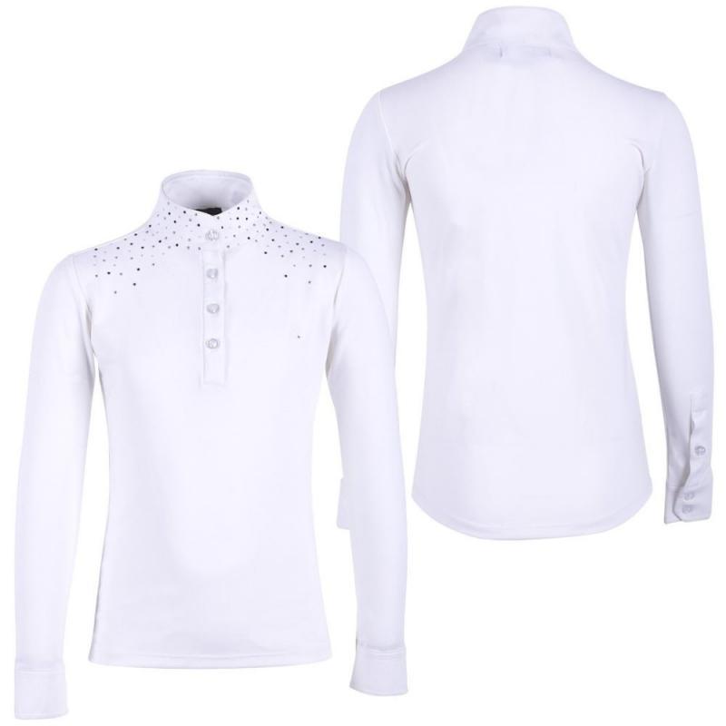 Bluzka konkursowa QHP Emilee Junior młodzieżowa biała