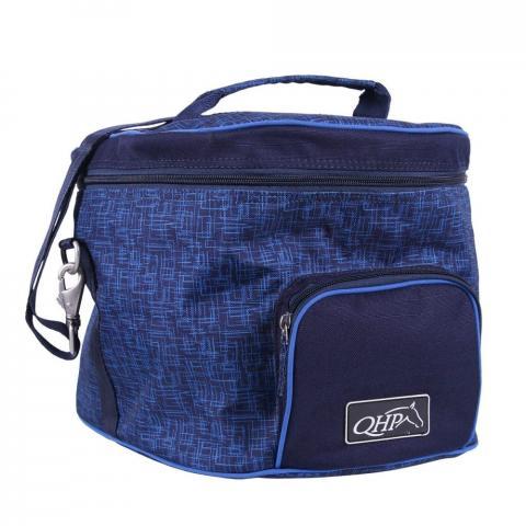 Torba na kask QHP Graphice granatowo-niebieska