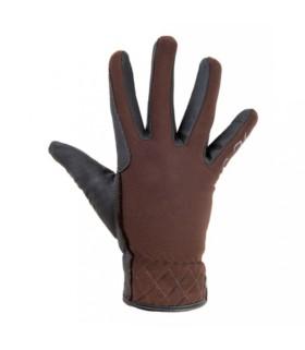 Rękawiczki HKM Velluto brązowe