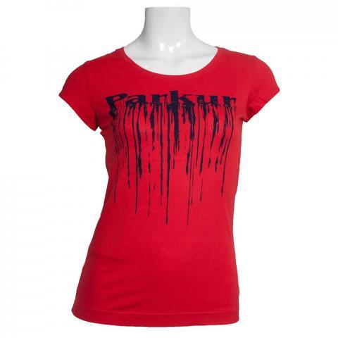 Koszulka damska Parkur Pegaz czerowna