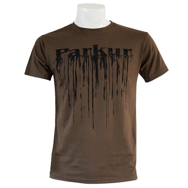 Koszulka męska Parkur Pegaz ciemnozielona