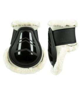 Ochraniacze Caliber Horze z futerkiem tył czarne