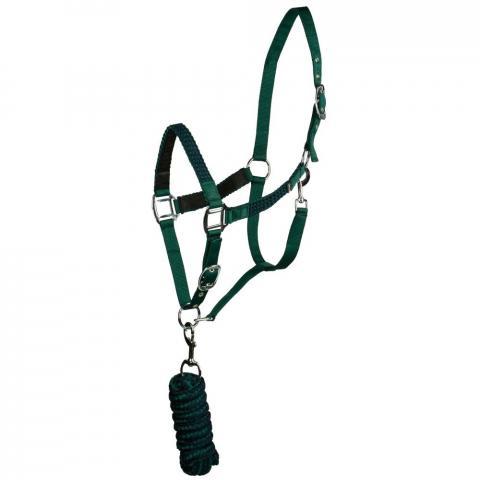 Kantar z uwiązem Horze zielono-granatowy