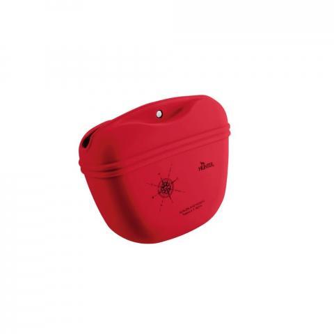 Torebka-sakiewka na smakołyki Hunters List silikonowa czerwona
