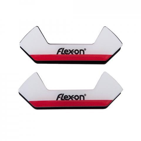 Wkładki magnetyczne do strzemion bezpiecznych Flex-on Safe On biało-czerwone