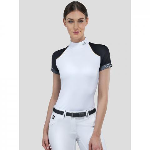 Bluzka konkursowa damska Equiline Barite biała
