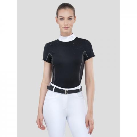 Bluzka konkursowa damska Equiline Pitas czarna