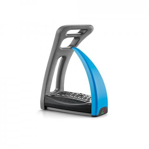 Strzemiona Safe Riding S2 Silver Chrome - Capri Blue, chromowo-niebieskie