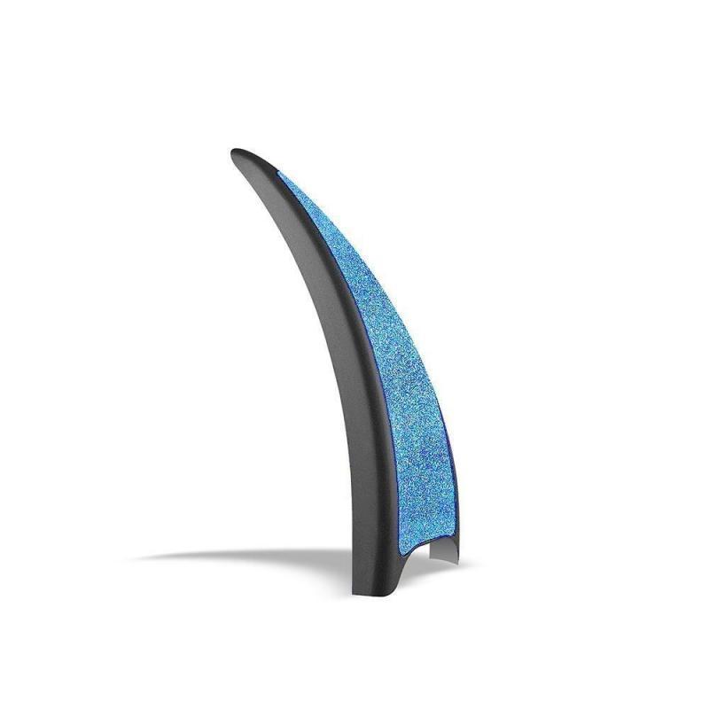 Nakładki do strzemion Safe Riding Blue Glitter, niebieskie