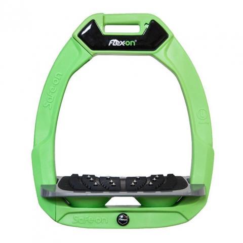 Strzemiona bezpieczne Flex-On z kolcami zielono-szaro-zielone