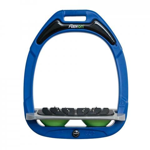 Strzemiona Flex-On Green Composite z kolcami dorośli niebiesko-szaro-zielone