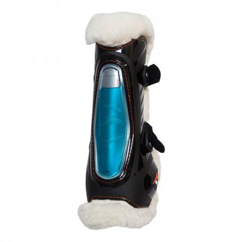 Ochraniacze z futerkiem eQuick FluidGel No Kill Velcro przód czarne