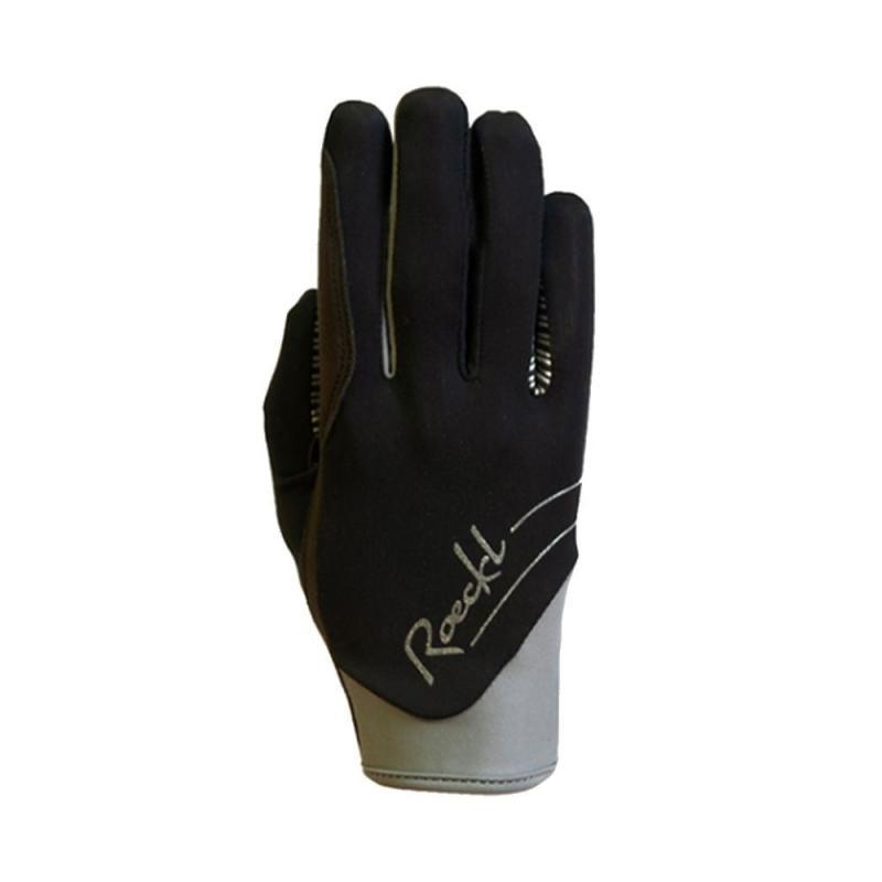 Rękawiczki zimowe Roeckl June czarno-szare
