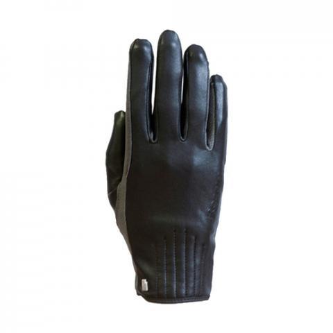 Rękawiczki zimowe Roeckl Wels czarno-szare