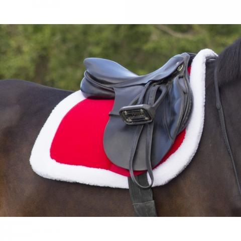 Czaprak QHP czerwony świąteczny