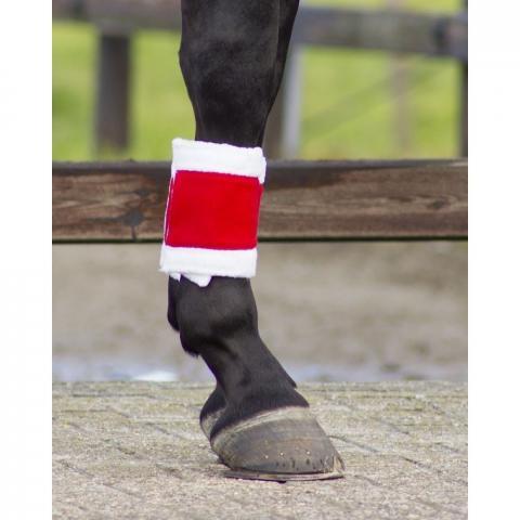 Bandaże polarowe QHP czerwone świąteczne