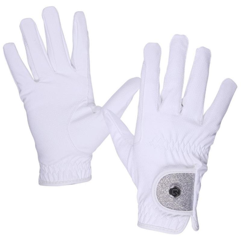Rękawiczki QHP Glitz białe