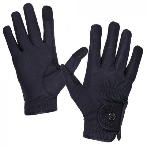 Rękawiczki QHP Glitz czarne
