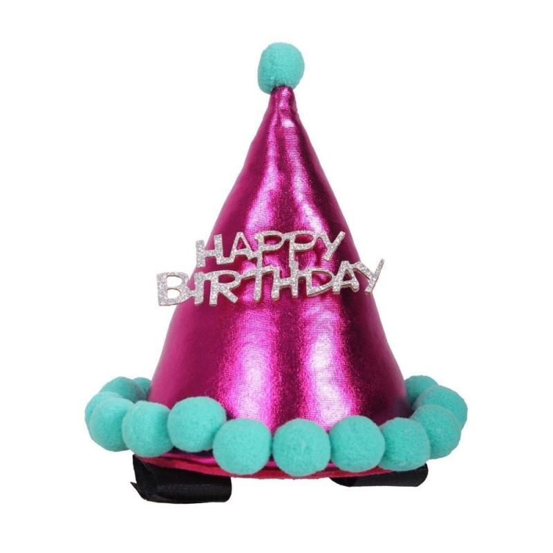 Czapka urodzinowa dla konia QHP różowa