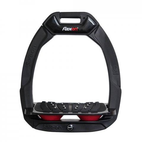 Strzemiona bezpieczne Flex-On z kolcami czarno-czarno-czerwone