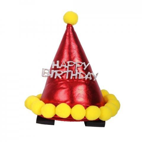 Czapka urodzinowa dla konia QHP czerwona
