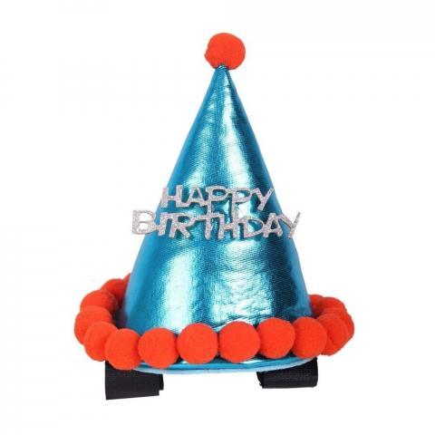Czapka urodzinowa dla konia QHP niebieska