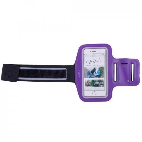 Etui na telefon QHP na ramię fioletowe