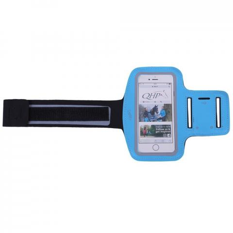 Etui na telefon QHP na ramię niebieskie