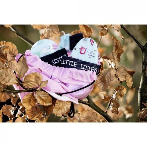 Zestaw szczotek HKM Little Sister 5szt w woreczku błękitno-różowy