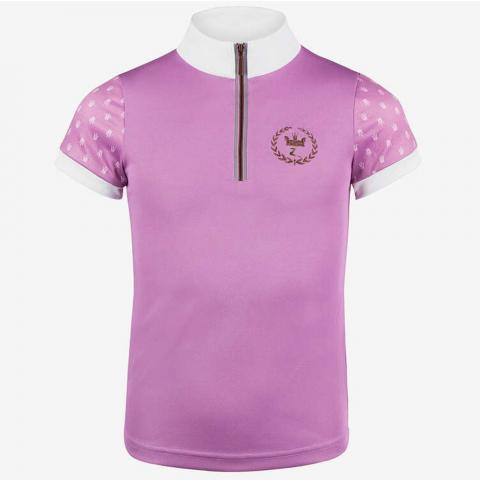Koszulka konkursowa dziecięca Horze Paige różowa