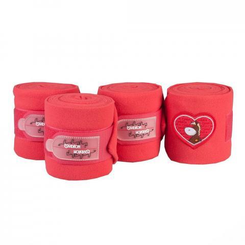 Bandaże polarowe Eskadron Nici heart red, czerwone 2015