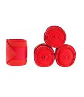 Bandaże polarowo-elastyczne Horze Nest czerwone