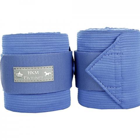 Bandaże polarowo-elastyczne HKM Premium niebieskie