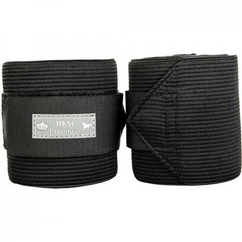 Bandaże polarowo-elastyczne HKM Premium czarne