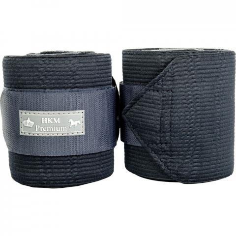 Bandaże polarowo-elastyczne HKM Premium granatowe