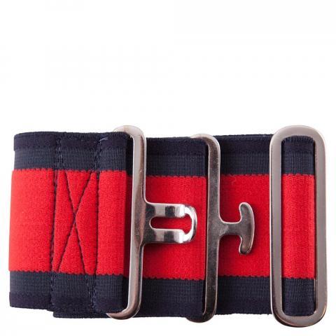 Pas elastyczny do derki BR czerwono-granatowy