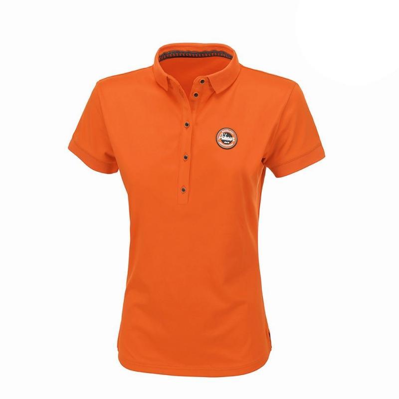 Koszulka polo damska Pikeur Dasha pomarańczowa 2019