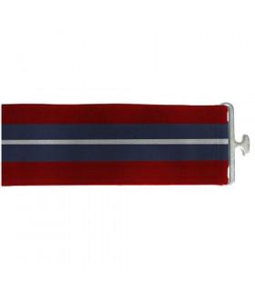 Pas do derki IR granat-szary-czerwony
