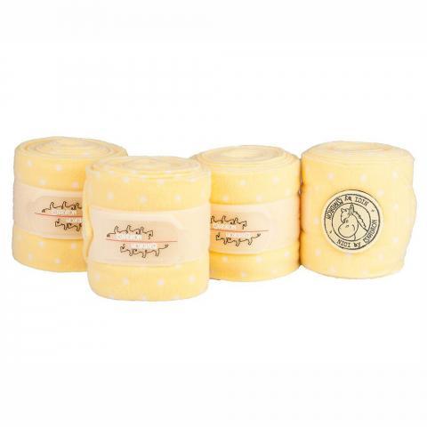 Bandaże polarowe Eskadron Nici dots popcorn-white, żółte 2014