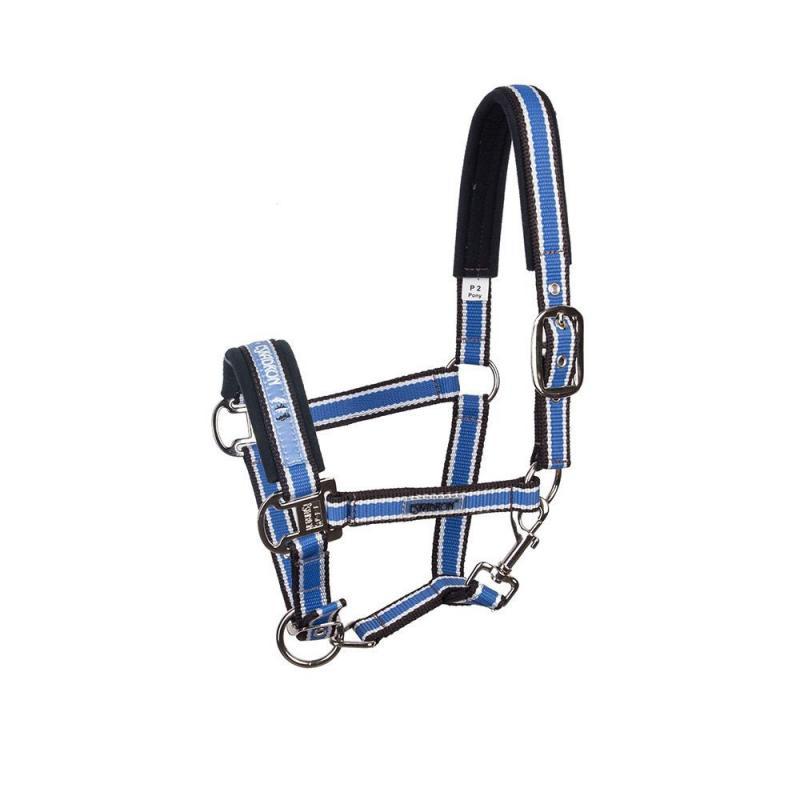 Kantar Eskadron CS Pin Buckle aqua-white-teak, niebieski-biały-brązowy SS2012