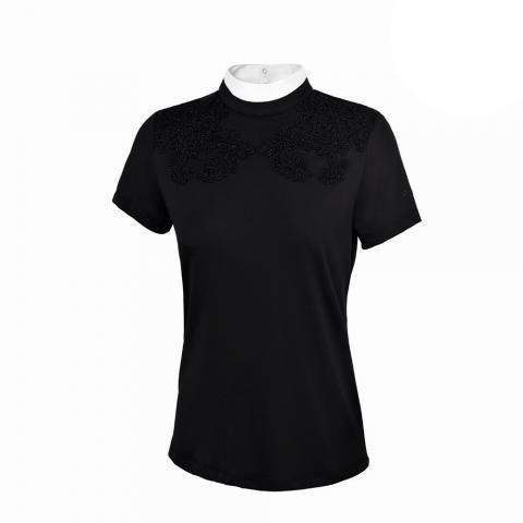 Koszulka konkursowa damska Pikeur Nella czarna 2019