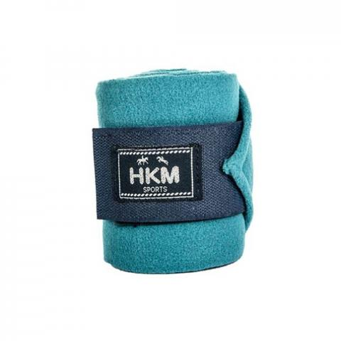 Bandaże polarowe HKM Equestrian turkusowe