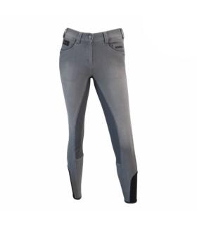 Bryczesy Pikeur Darjeen Jeans Grip szare 2019