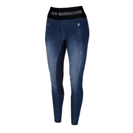 Bryczesy Pikeur Gwen Grip Jeans niebieskie 2018